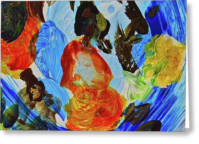 Greeting Card featuring the painting Intuitive Painting  215 by Joan Reese