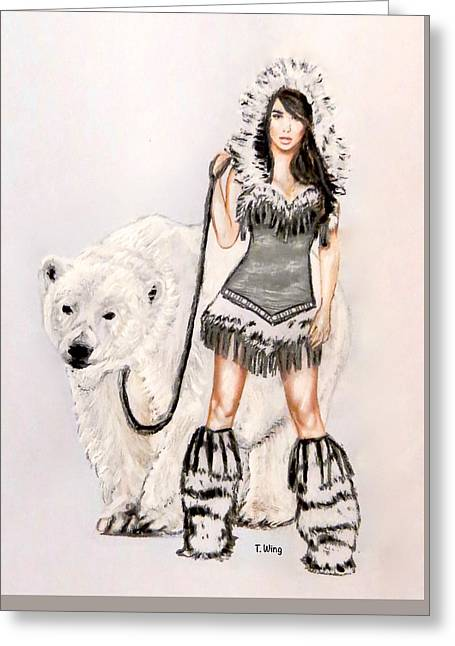 Inuit Pin-up Girl Greeting Card