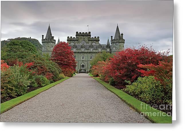 Inveraray Castle In Autumn Greeting Card