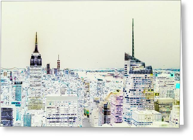 Greeting Card featuring the photograph Inversion Layer by Alex Lapidus