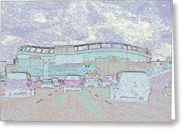 Invesco Field Greeting Card by Lenore Senior