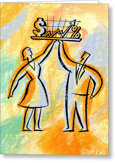 Investor And Investments Greeting Card