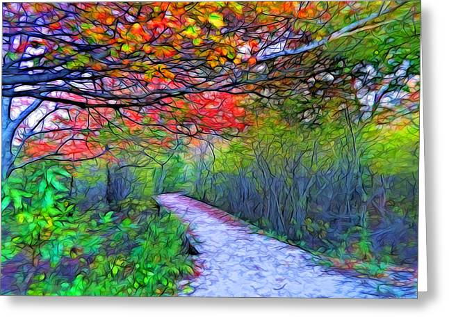 Invitation For A Walk Greeting Card by Lilia D