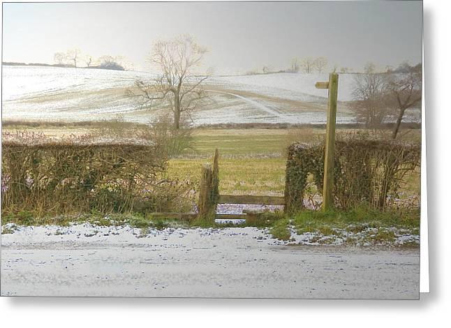 Invitation To A Winter Walk Greeting Card by Aleck Rich Seddon