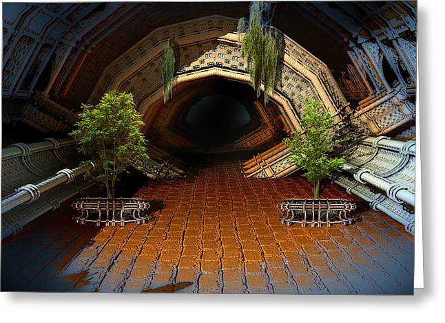 Inviting Dark Tunnel Greeting Card