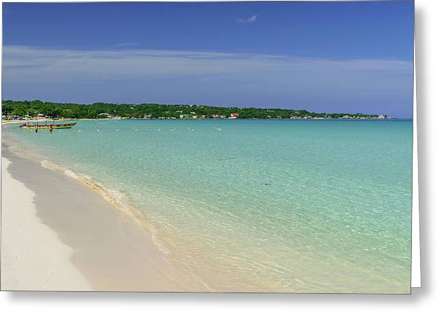 Seven Mile Beach, Negril Greeting Card
