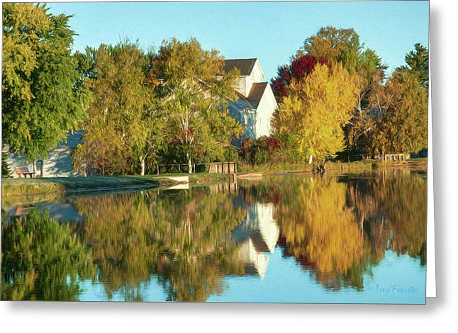 Iola Mill Fall View Greeting Card