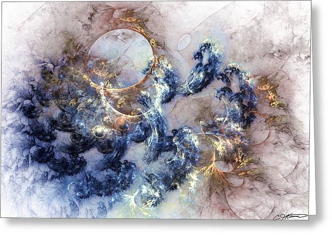 Ion Greeting Cards - Ion Storm Greeting Card by Casey Kotas