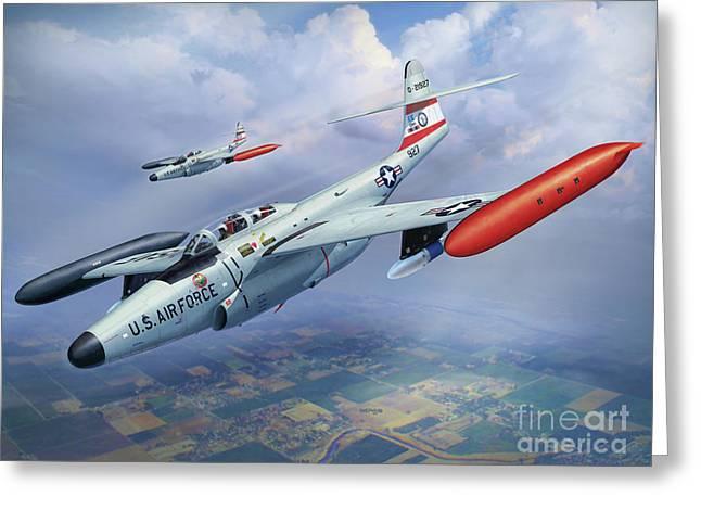 Iowa Ang F-89j Scorpion Greeting Card by Stu Shepherd