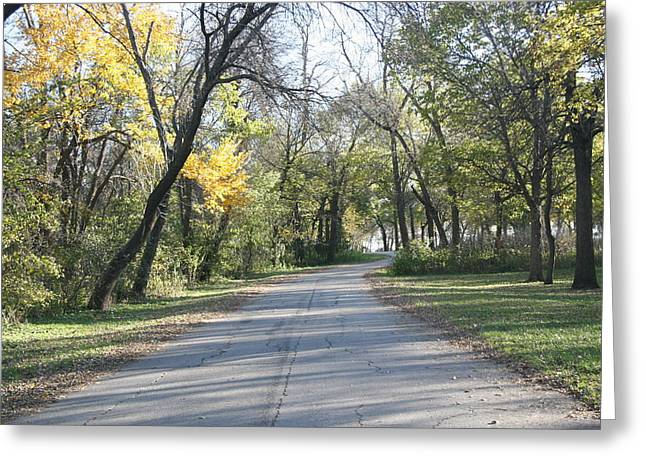 Iowa Back Road Greeting Card by Amelia Painter