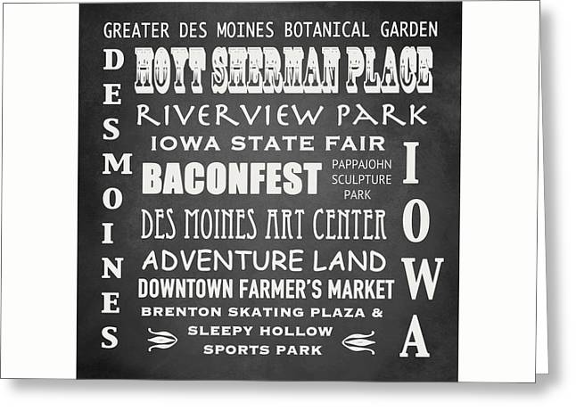 Iowa Famous Landmarks Greeting Card