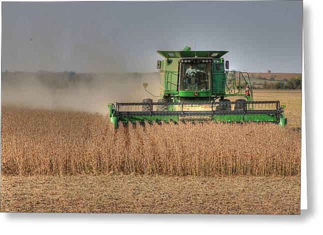 Iowa Soybean Harvest Greeting Card