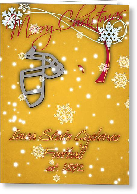 Iowa State Cyclones Christmas Card Greeting Card by Joe Hamilton