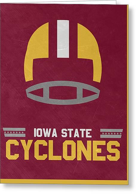 Iowa State Cyclones Vintage Football Art Greeting Card
