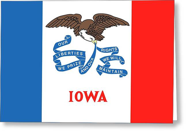 Iowa State Flag Greeting Card by American School