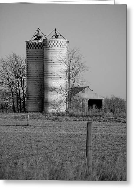Iowa Towers 1 Greeting Card