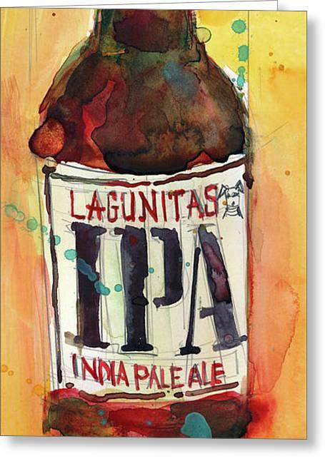 Ipa Lagunitas Beer Art Greeting Card