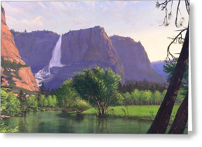 iPhone - Galaxy Cellphone Case - Mountain Waterfall Stream Greeting Card