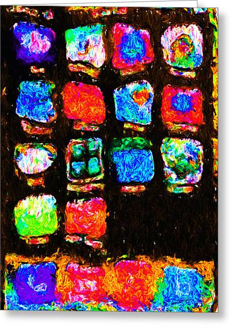 Iphone In Abstract Greeting Card