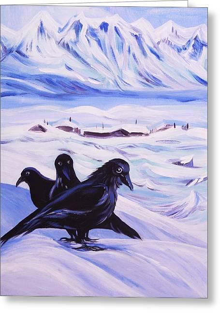 Iqaluit Greeting Card by Anna  Duyunova
