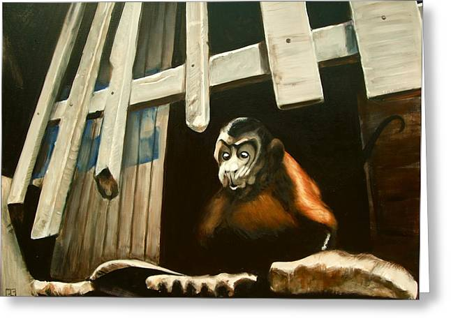 Iquitos Monkey Greeting Card by Chris  Slaymaker