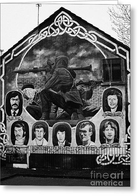 Ira Wall Mural Belfast Greeting Card by Joe Fox
