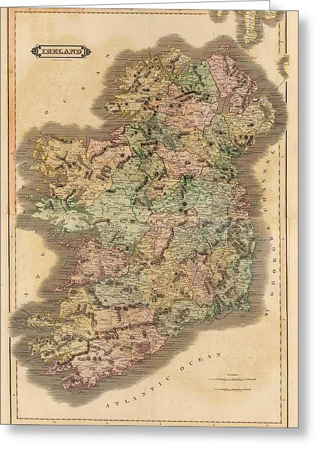 Ireland 1831 Greeting Card