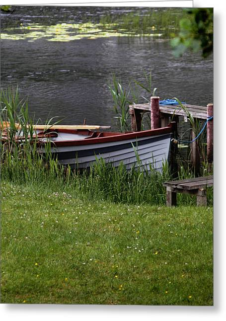 Ireland Boat Greeting Card by Michael Carlucci