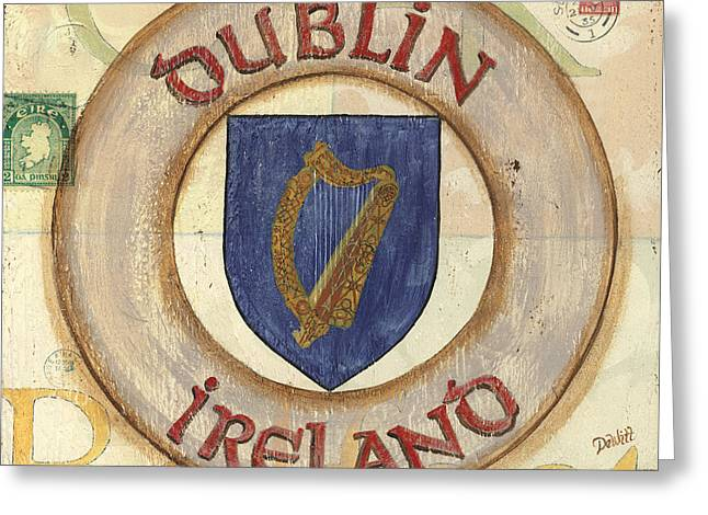 Belfast Greeting Cards - Ireland Coat of Arms Greeting Card by Debbie DeWitt