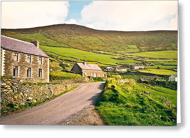 Stone House Greeting Cards - Ireland farmland Greeting Card by Douglas Barnett