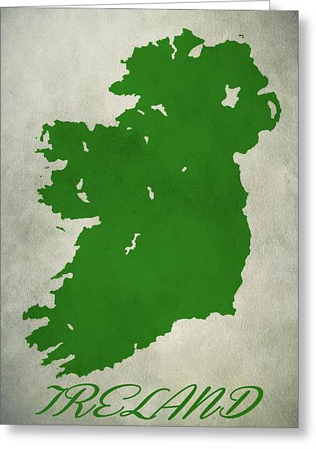 Ireland Grunge Map Greeting Card by Dan Sproul