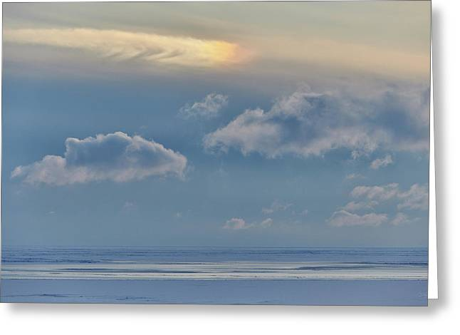 Greeting Card featuring the photograph Iridescence Horizon by Doug Gibbons