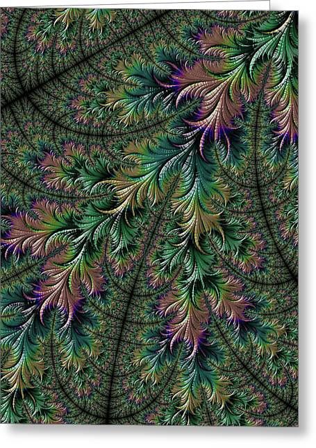Iridescent Feathers Greeting Card