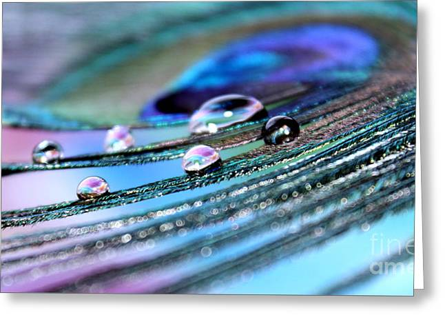 Iridescent Jewels Greeting Card