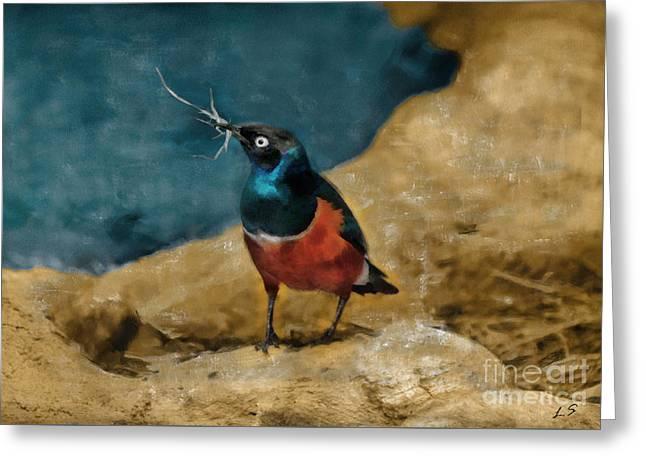 Iridescent Starling Greeting Card