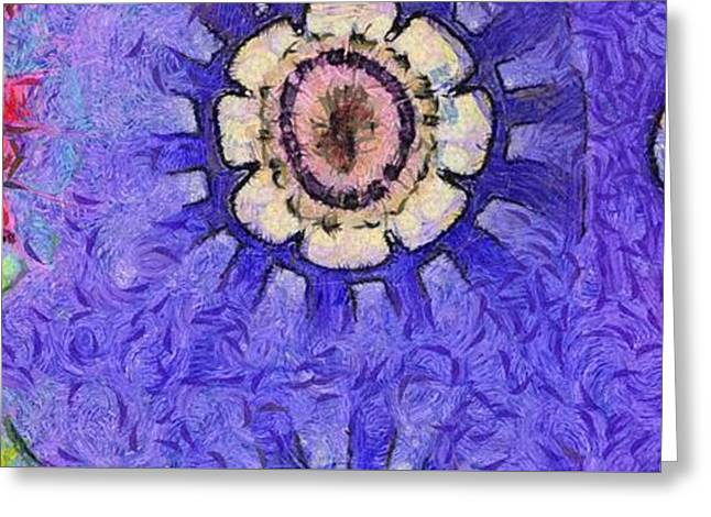 Iridize Concord Flower  Id 16164-220028-83060 Greeting Card by S Lurk