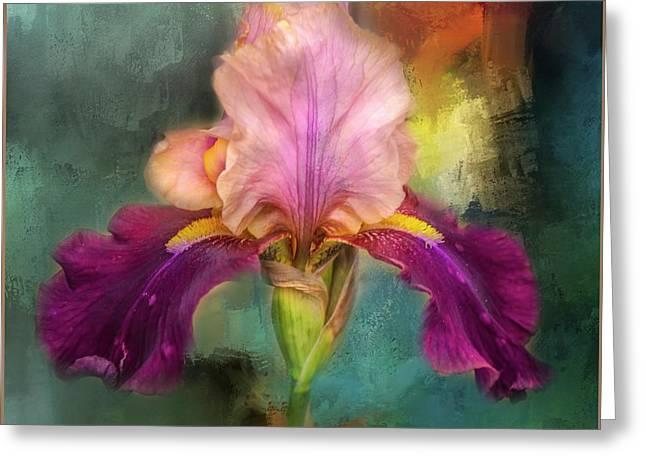 Iris Abstract  Greeting Card