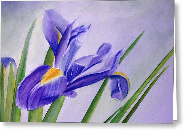Greeting Card featuring the painting Iris by Allison Ashton