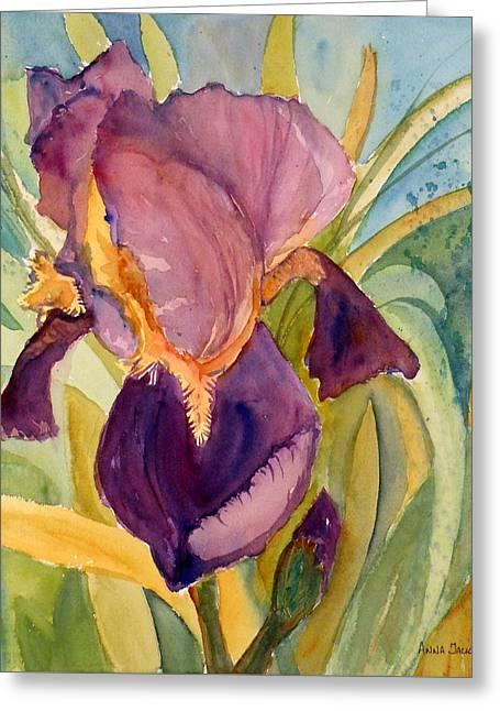 Iris Bloom Greeting Card