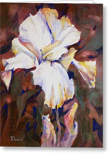 Iris Greeting Card by Bob Duncan