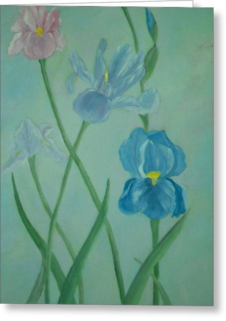 Iris Dreams Greeting Card by Alanna Hug-McAnnally
