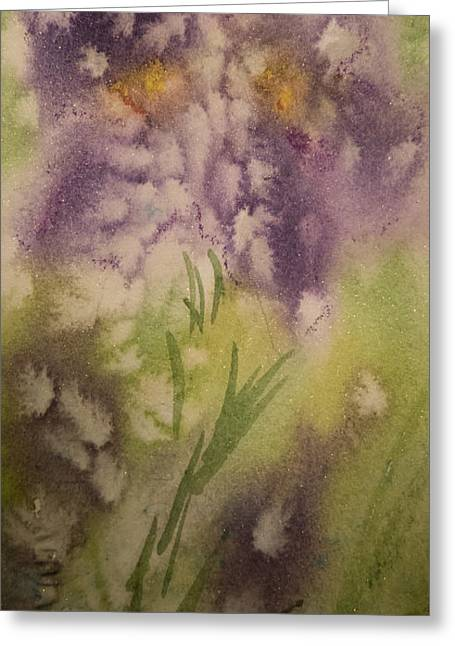 Iris Fantasy Greeting Card