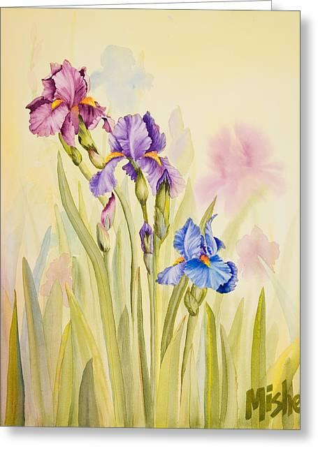 Iris Garden Ll Greeting Card