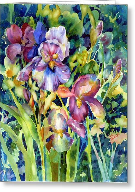 Iris II Greeting Card by Ann  Nicholson