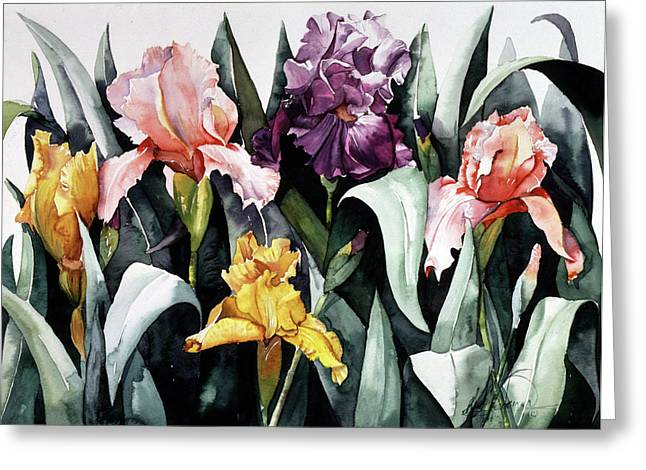 Iris Integration Greeting Card by Leah Wiedemer