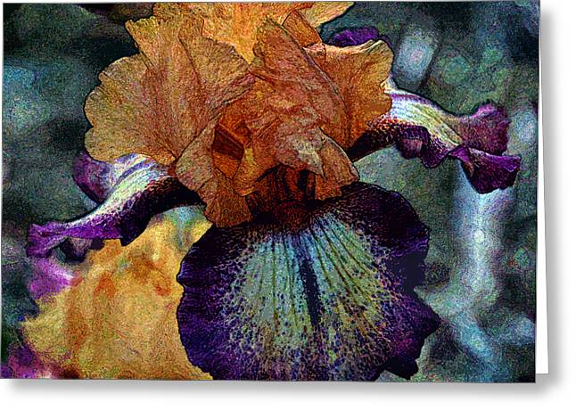 Iris Intimacy Greeting Card by Angelina Vick