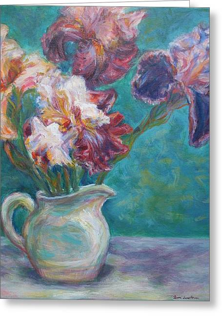 Iris Medley - Original Impressionist Painting Greeting Card
