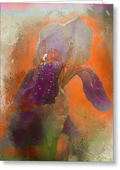 Greeting Card featuring the digital art Iris Resubmit by Jeff Burgess