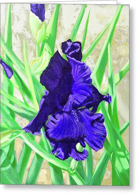 Iris Royalty Greeting Card