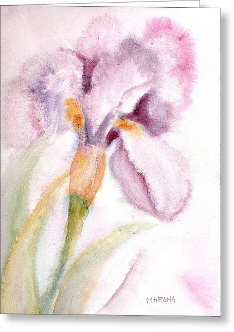 Iris Study I Greeting Card